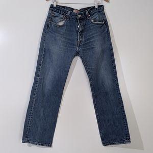 Levi's 501 XX 34x29 Distressed Denim Blue Jeans